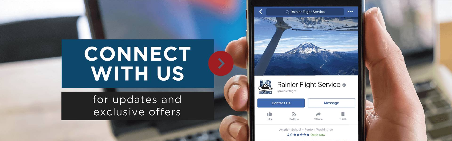 Rainier Flight Service Social Media